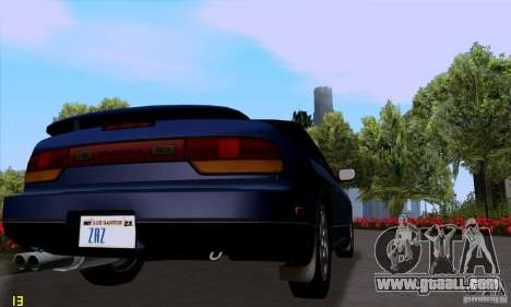 Nissan SX 240 Full Stock for GTA San Andreas back left view