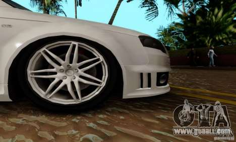 Audi RS4 2007 for GTA San Andreas upper view