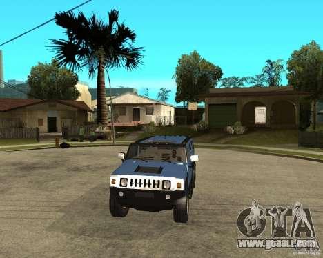 AMG H2 HUMMER for GTA San Andreas back view
