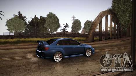 Subaru Impreza WRX STi 2011 for GTA San Andreas left view