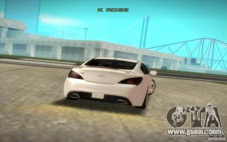 Hyundai Genesis 3.8 Coupe for GTA San Andreas back view