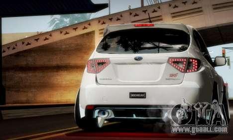 Subaru Impreza WRX Camber for GTA San Andreas upper view
