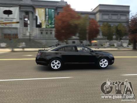 Ford Taurus FBI 2012 for GTA 4 inner view