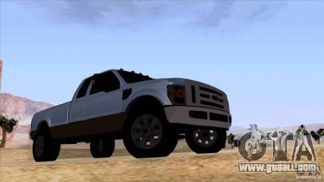 Ford F350 Super Dute for GTA San Andreas bottom view