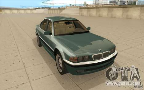 BMW 750iL 1995 for GTA San Andreas back view