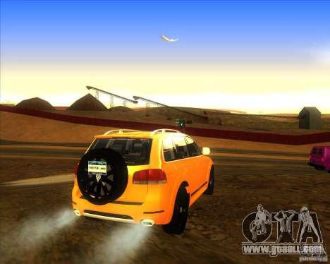 Volkswagen Touareg R50 for GTA San Andreas back left view