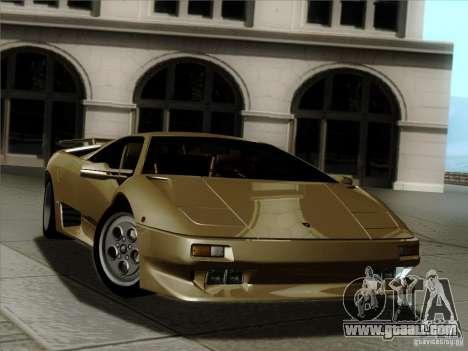 Lamborghini Diablo VT 1995 V3.0 for GTA San Andreas engine