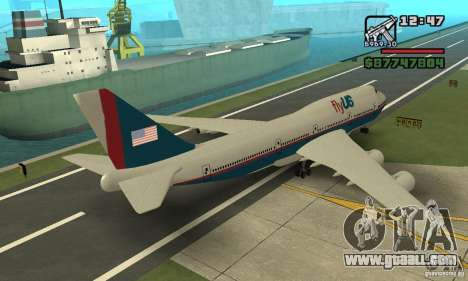 Aircraft from GTA 4 Boeing 747 for GTA San Andreas left view