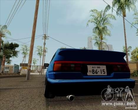 Toyota Sprinter Trueno AE86 JDM for GTA San Andreas back view