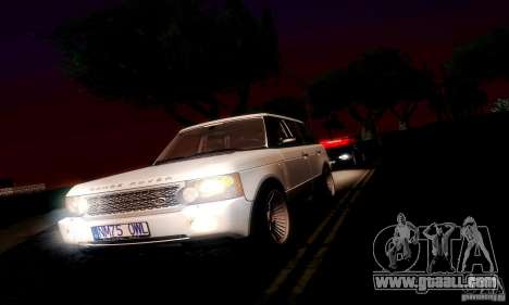 Range Rover Supercharged for GTA San Andreas back view