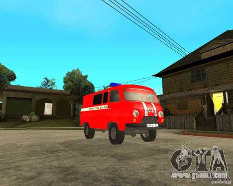 UAZ Fire Brigade for GTA San Andreas back view