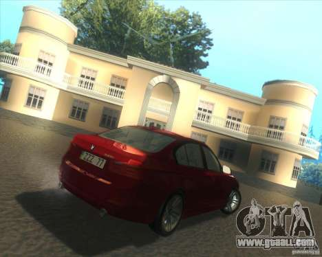 BMW 3 Series F30 2012 for GTA San Andreas right view