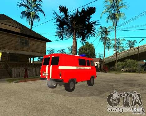 UAZ Fire Brigade for GTA San Andreas right view