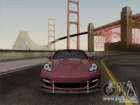 Porsche Panamera Turbo 2010 for GTA San Andreas bottom view