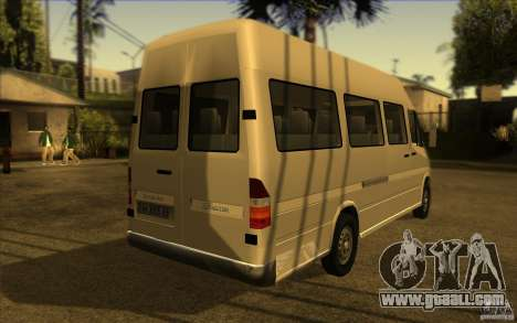 Mercedes Benz Sprinter 315 CDI for GTA San Andreas back left view