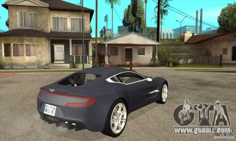 Aston Martin One-77 for GTA San Andreas right view