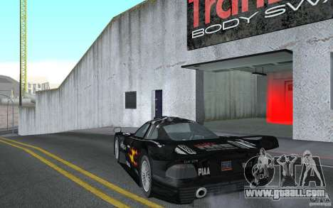 Mercedes-Benz CLK GTR road version (v2.0.0) for GTA San Andreas back left view