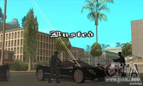 Pagani Zonda F Speed Enforcer BETA for GTA San Andreas upper view