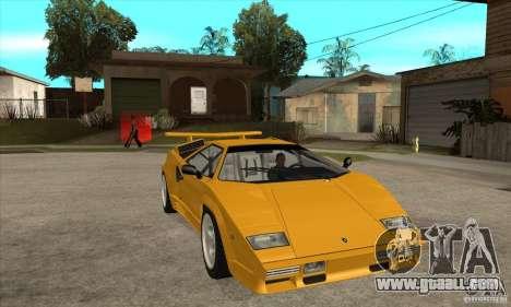 Lamborghini Countach for GTA San Andreas back view