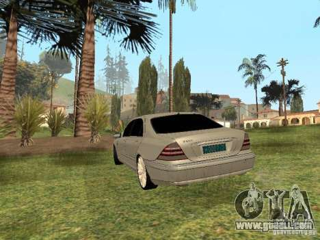 Mercedes-Benz S600 w200 for GTA San Andreas left view