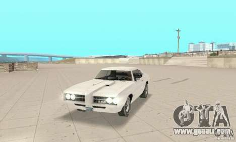 Pontiac GTO 1969 stock for GTA San Andreas