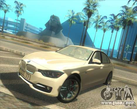 BMW 3 Series F30 2012 for GTA San Andreas left view
