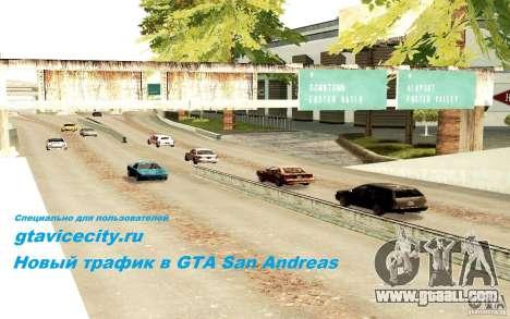 A new algorithm for car traffic for GTA San Andreas