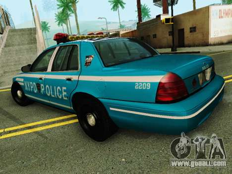 Ford Crown Victoria 2003 NYPD Blue for GTA San Andreas back left view