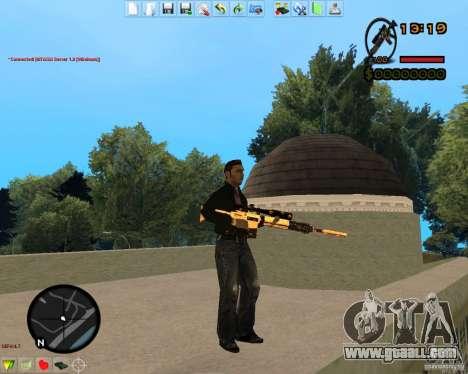 Smalls Chrome Gold Guns Pack for GTA San Andreas tenth screenshot