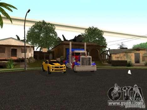 Peterbilt 379 Optimus Prime for GTA San Andreas bottom view