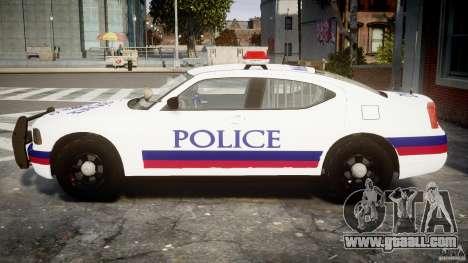 Dodge Charger Karachi City Police Dept Car [ELS] for GTA 4 left view