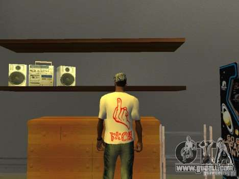 Gangsta T-shirt for GTA San Andreas second screenshot
