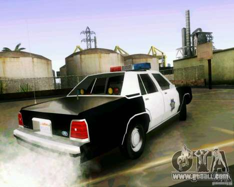 Ford Crown Victoria LTD 1991 SFPD for GTA San Andreas left view