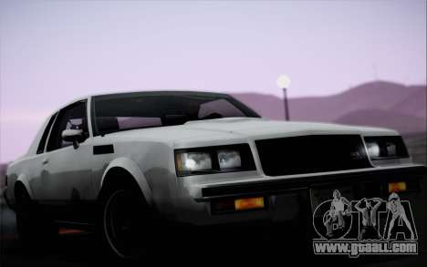 Buick GNX 1987 for GTA San Andreas side view