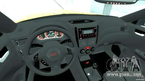 Subaru Impreza WRX STi 2011 Subaru World Rally for GTA 4 right view