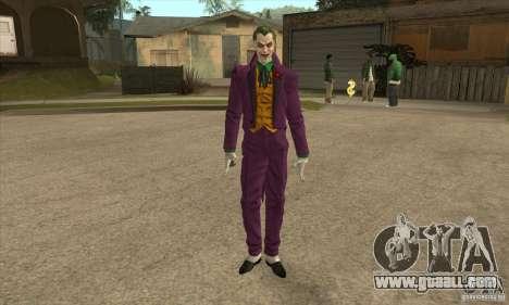 HQ Joker Skin for GTA San Andreas
