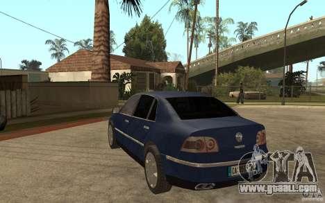 Volkswagen Phaeton 2005 for GTA San Andreas back left view