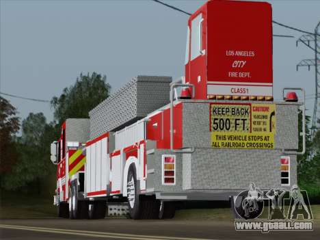 Pierce Arrow XT LAFD Tiller Ladder Trailer for GTA San Andreas bottom view