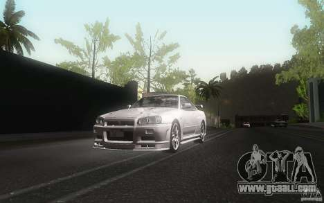 Nissan Skyline GT-R R34 M-spec Nur for GTA San Andreas side view
