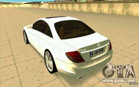 Mercedes Benz CL 500 for GTA San Andreas back left view