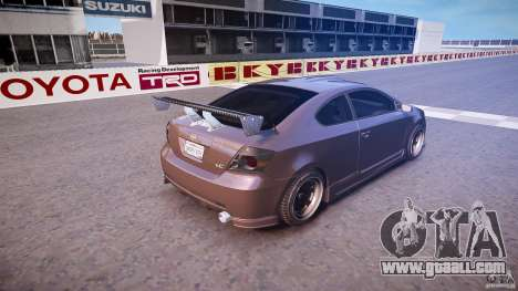 Toyota Scion TC 2.4 Tuning Edition for GTA 4 upper view