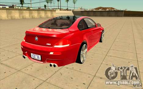 BMW M6 for GTA San Andreas side view