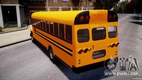 School Bus [Beta] for GTA 4 back left view