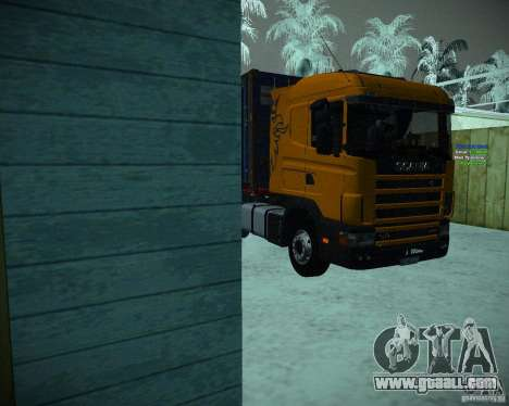 Scania 164L for GTA San Andreas left view