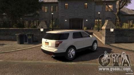 Ford Explorer 2011 for GTA 4 left view
