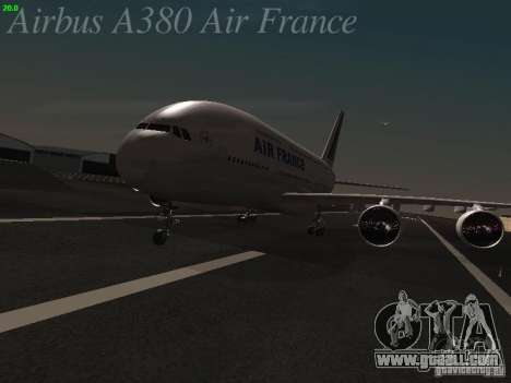 Airbus A380-800 Air France for GTA San Andreas left view