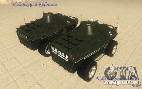 APCS of the GTA 4 TBOGT Original With Texture for GTA San Andreas back view