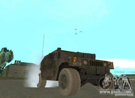 Hummer Cav 033 for GTA San Andreas back view