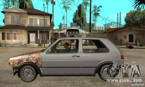 VW Golf Mk2 GTI for GTA San Andreas left view