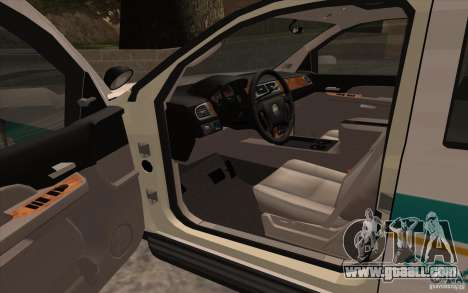 Chevrolet Avalanche Orange County Sheriff for GTA San Andreas right view